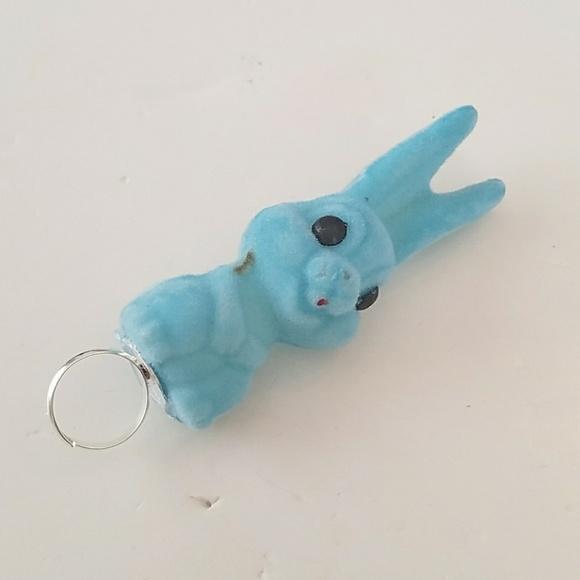 GASOLINE GLAMOUR Jewelry - BLUE FUZZY BUNNY RING